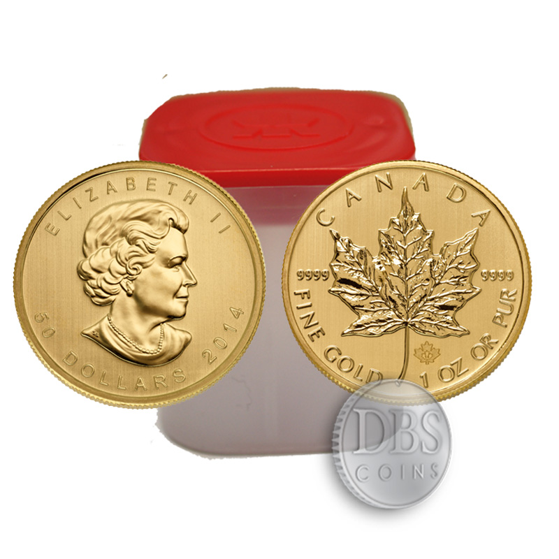 Buy 2015 Gold Maple Leaf 1oz Coins Online Tubes Of 10