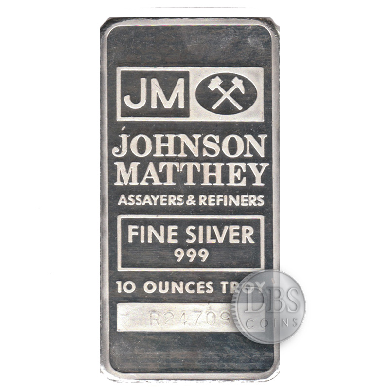 Buy Johnson Matthey 10 Oz Silver Bars Dbs Coins