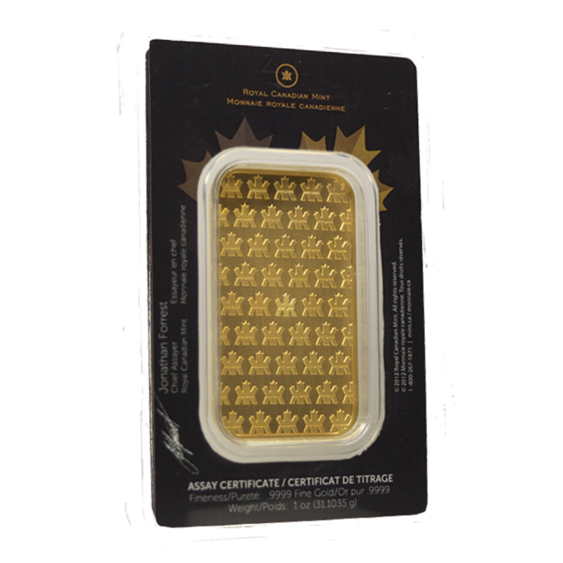 Buy 1 Oz Rcm Gold Bar 9999 Fine Bullion Bars Brand New