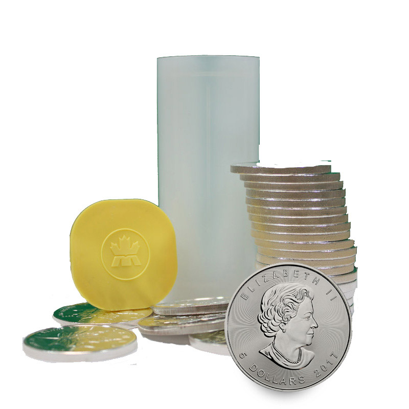 Buy Silver Canadian Maple Leaf Coins In Mint Tubes Of 25