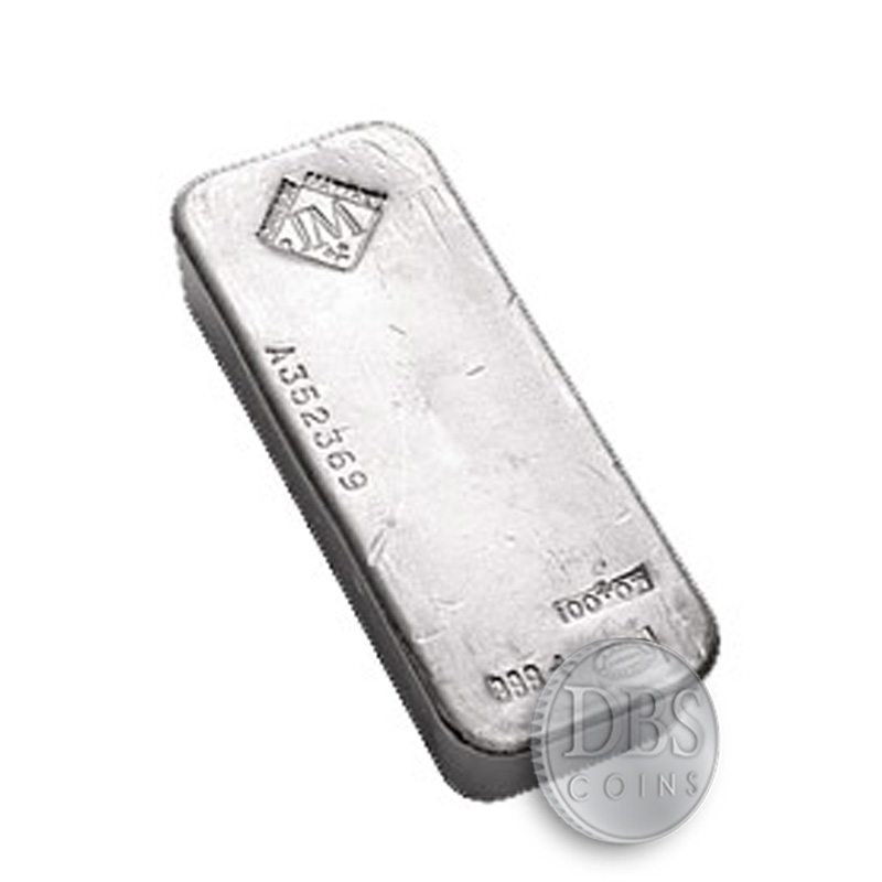 Johnson Matthey 100 Oz Silver Bars Dbscoins