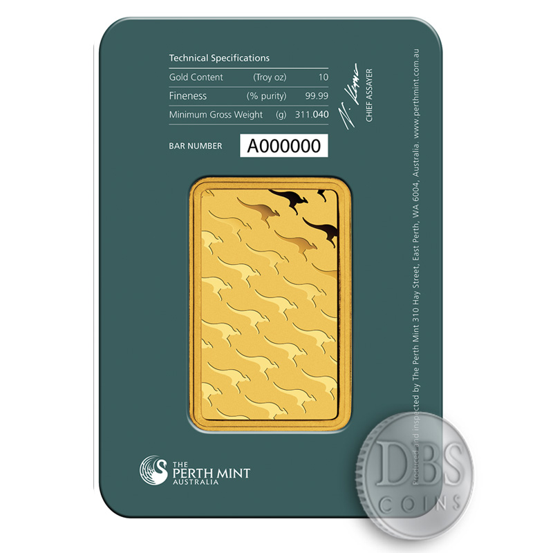 Buy 10 Oz Perth Gold Bullion 9999 Fine Bars Brand New