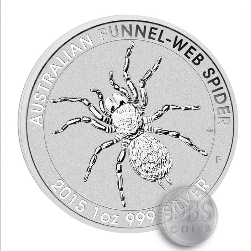 Buy 2015 Perth Mint Silver Funnel Web Spider 1 Oz Coins