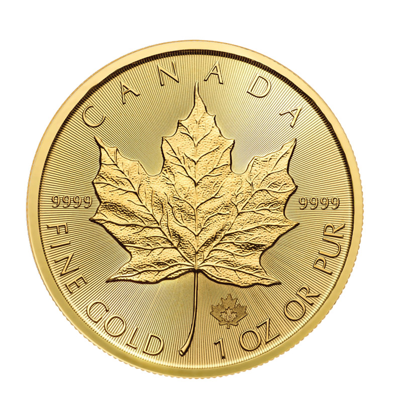 Buy 2018 Gold Maple Leaf 1oz Coins Online 9999 Fine Gold