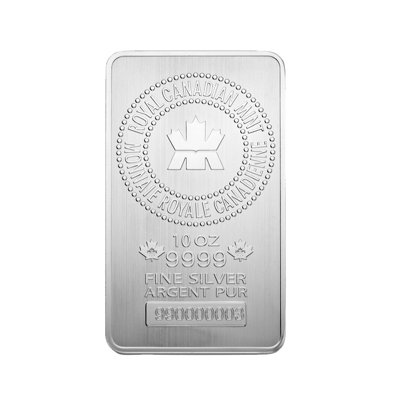 Buy 10 Oz Rcm Silver Bars From Royal Canadian Mint Online