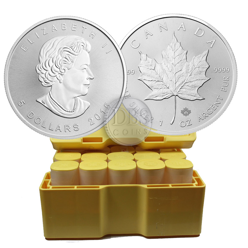 Buy 2015 Silver Canadian Maple Leaf Mint Sealed Box 500