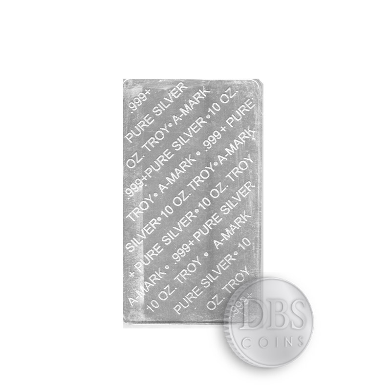 Buy 10 Oz A Mark Silver Bars From Dbs Coins Online