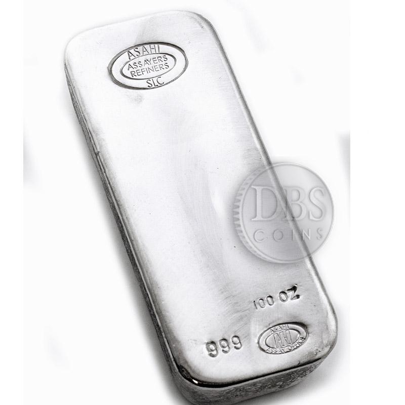 Buy Asahi 100 Oz Silver Bars Silver Asahi Bars From Dbs