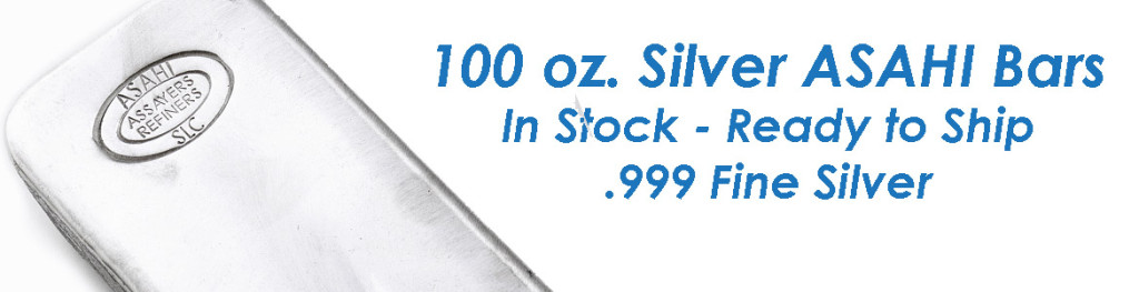 Asahi 100 oz. Silver Bars