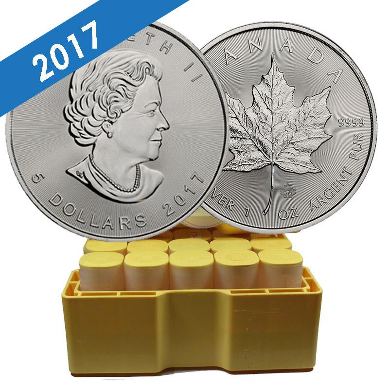 Buy 2017 Silver Canadian Maple Leaf Mint Sealed Box 500