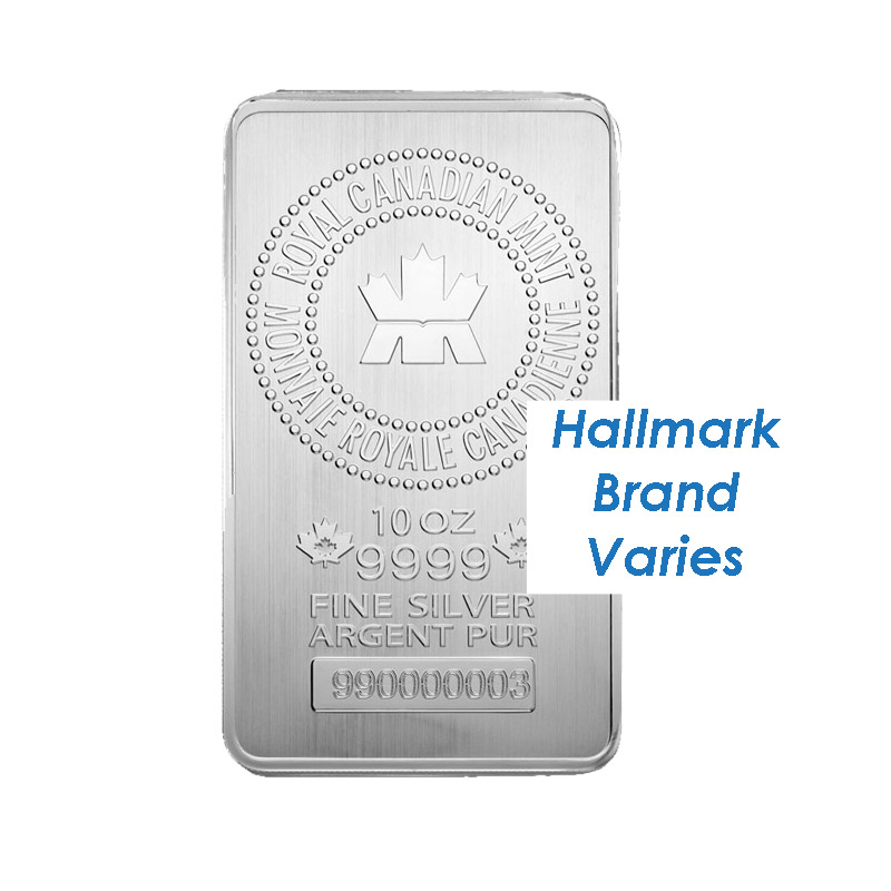 10 Oz Silver Bar Hallmark Varies Old Scratched Dbs Coins