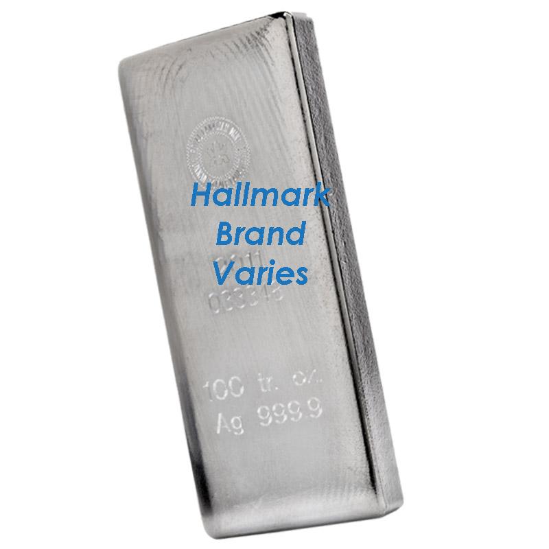 100 Oz Silver Bars Dbs Coins