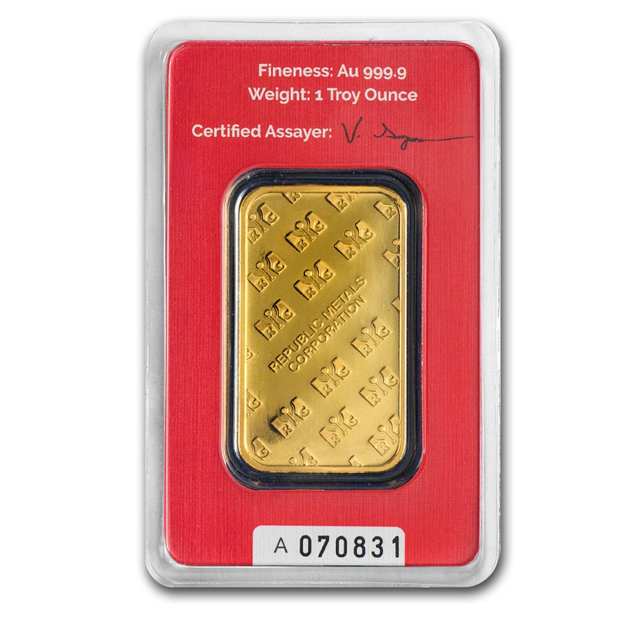 Buy 1 Oz Rmc Gold Bars From Dbs Coins Online