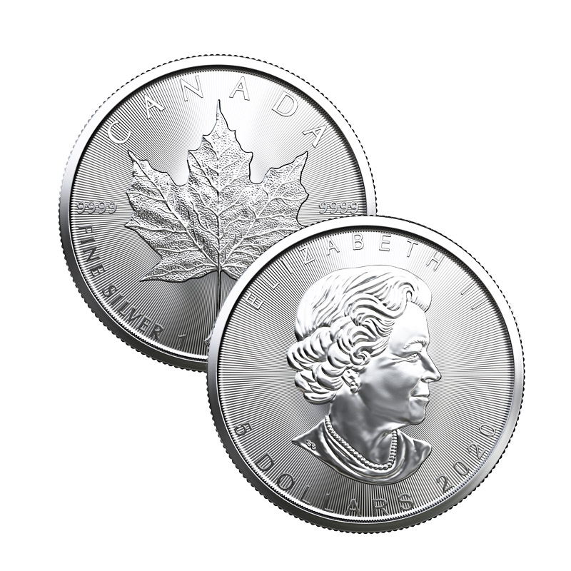 Buy 2020 Silver Canadian Maple Leaf Coins In Mint Tubes Of
