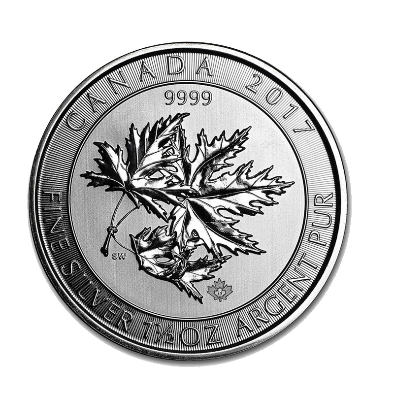 Buy 2017 Silver Canadian Maple Leaf Super Leaf 1 5 Oz
