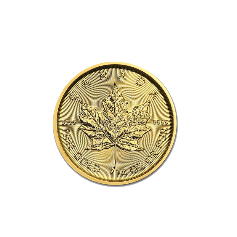 Buy Gold 2018 1 4 Canadian Gold Maple Leaf Coins Dbs Coins